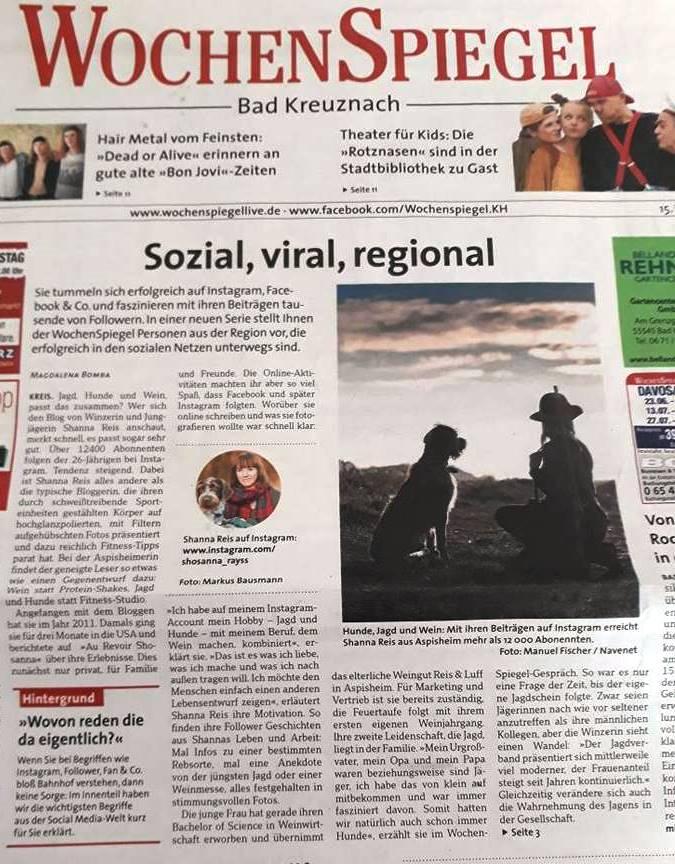 Artikel Wochenspiegel Hunsrück_April18_2